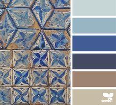 { tiled tones } image via: @auntieclaras For more colour trends 2016 - 2017 check http://www.wonenonline.nl/interieur-inrichten/kleuren-trends/ #colour #palette #design