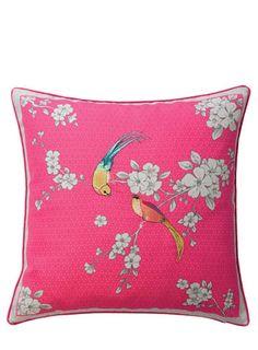 ACCESSORIZE Oriental Birds Cushion - cushions  - Home, Lighting & Furniture