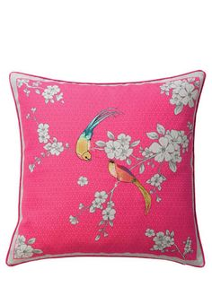 ACCESSORIZE Oriental Birds Cushion - cushions  - Home, Lighting & Furniture