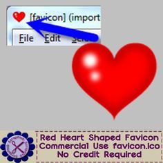 Red Heart Shaped Transparent Background Favicon - $1.00 : ScrapPNG, Digital Craft Graphics