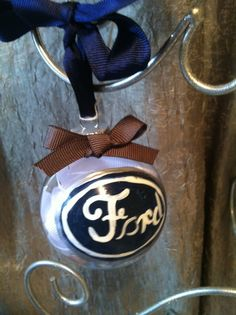 Ford Ornament by ItsJustSlate on Etsy, $6.00