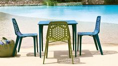 Emu Pattern Contemporary Patio Seating | Coalesse