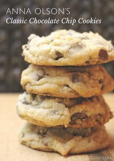 I turned to my baking guru for inspiration on this cold, dark and rainy day. I made Anna Olson's Classic Chocolate Chip Cookies as a special treat for when Reg comes home from … Best Chocolate Chip Cookie, Homemade Chocolate, Chocolate Cookies, Baking Chocolate, Chocolate Chocolate, Chocolate Pudding, Baking Recipes, Cookie Recipes, Dessert Recipes