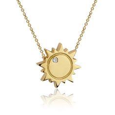 Colier din aur cu soare si diamant COR37-LSO-1 Aur, Gold Necklace, Jewelry, Gold Pendant Necklace, Jewlery, Jewerly, Schmuck, Jewels, Jewelery