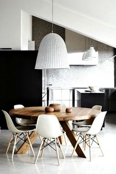 Round Dining Room Table and Chairs . Round Dining Room Table and Chairs . originals Furniture Pte Ltd Dining Room Design, Dining Room Furniture, Dining Room Table, Dining Area, Kitchen Dining, Dining Chairs, Kitchen Modern, Minimal Kitchen, Room Chairs