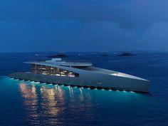 Ardea Alba by Timothy Baldacci Yacht Design Sport Yacht, Yacht Boat, Sport Boats, Whitewater Kayaking, Canoe Trip, Yacht Design, Super Yachts, Motor Yacht, Power Boats