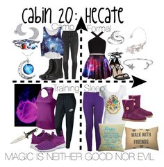 """""""Cabin 20: Hecate"""" by aquatic-angel ❤ liked on Polyvore featuring UGG Australia, NIKE, Citizens of Humanity, Primrose, Bling Jewelry, BCBGMAXAZRIA and Steve Madden"""