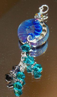 Handmade Lampwork Glass Tab Pendant by nycfashionconnection, $20.00