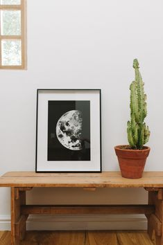 Dark Half Moon // Lunar Love shot by Love Made Visible Watercolor Moon, Moon Phases, Watercolours, Dark, Frame, Artwork, Artist, Home Decor, Picture Frame