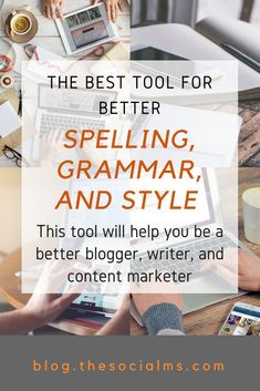 When I became a blogger and content marketer, I found out that professional proofreading and editing wasn't something I could afford. This tool rescued me. how to write better blog posts, make your blog look more professional, blogging tool, better grammar, spell checker #bloggingtools #grammar #bloggingtips #spellchecker Content Marketing Tools, Online Marketing Tools, Cool Writing, Writing Tips, Good Grammar, Becoming A Blogger, Blogging For Beginners, Pinterest Marketing