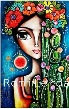 Discover recipes, home ideas, style inspiration and other ideas to try. Frida Art, Colorful Paintings, Mexican Art, Whimsical Art, Face Art, New Art, Painting & Drawing, Watercolor Art, Art Drawings