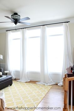 Hanging Curtains with Command Hooks-Renter Friendly!