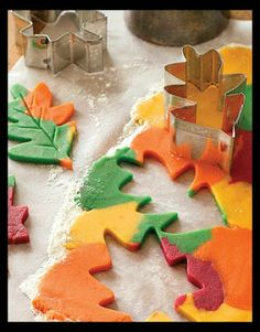Colorful Leaf Sugar Cookies!