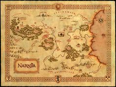 map of beautiful Narnia. I would love to have one to hang in my house someday!