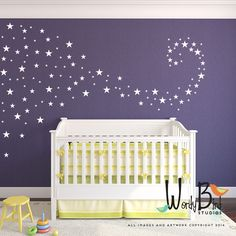 Baby Nursery Decals star confetti wall decals stickers for baby girl or baby boy by wordybirdstudios on Etsy