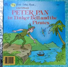 Walt Disney's Peter Pan in Tinker Bell and The Pirates Big Little Golden Book by Lonestarblondie on Etsy