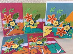 Card kit using Flower Patch stamp set by Stampin' UP. Tutorial on my site for the box.