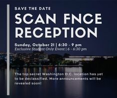 Save the date! The SCAN Reception at FNCE is Sunday, Oct. 21 from 6-9pm. You won't want to miss this evening of mystery and fun so mark your calendars. We'll see you there!