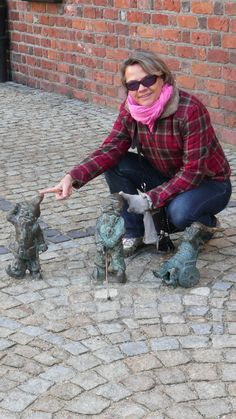 me and the gnomes in Wroclaw