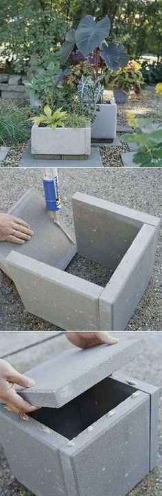DIY Outdoor Planter Wall M: For that corporate look. or for painting/autographing to be donated to a garden