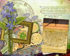 I appreciate the calm quality here on this Art Journal Page presented as Studio Tangie Creative Team 15 Minute Pages by  Christina aka caubin