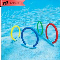 4 יח'\חבילה טבעת בריכה שחייה צלילה בריכת סיוע צעצוע אבזר עבור ילדים לשחק ספורט מים צעצוע חוף קיץ ילדי בריכת צלילה כיף