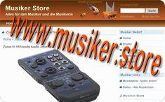 www.musiker.store - Domain zu verkaufen! Auch inklusive Webseite (mit Partnerprogramm - Affiliate  Script zum Importieren von CSV Produktdaten...) Audio, Musicians, Website, Learning