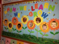 Spring Bulletin Board Ideas For The Classroom Crafty Morning Toddler Bulletin Boards, Spring Bulletin Boards, Preschool Bulletin Boards, Classroom Bulletin Boards, Classroom Crafts, Bullentin Boards, April Bulletin Board Ideas, Infant Classroom Ideas, Toddler Classroom Decorations