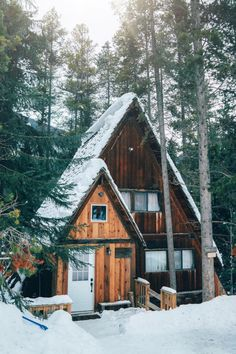 Looks like a cute version of the witch house from Hansel Gretel: Panorama Mountain Resort. A Frame Cabin, A Frame House, Cabins In The Woods, House In The Woods, Cabins In The Mountains, Mountain Cabins, Mountain Homes, Cabin Homes, Log Homes