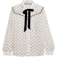Miu Miu Ruffled printed silk-chiffon blouse (€860) ❤ liked on Polyvore featuring tops, blouses, ruffle top, flounce blouse, frill top, silk chiffon blouse and miu miu blouse
