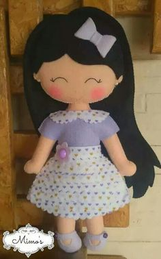 Fabric Dolls, Paper Dolls, Doll Crafts, Sewing Crafts, Felt Fairy, Felt Patterns, Sewing Dolls, Felt Toys, Soft Dolls