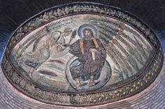Cristo consegna la legge a Mosè. Mosaico della metà del quarto secolo Roma Santa Costanza