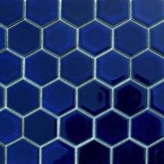 Glazed Hexagons Cobalt Hexagon traditional-floor-tiles