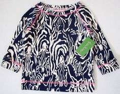 LILLY PULITZER Small 4 5 Navy Blue Entourage NAPLES French Pullover Top NWT S #LillyPulitzer #Everyday