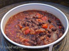 Low Fat Vegan Chef's Quick Vegan Black Bean Chilli Recipe