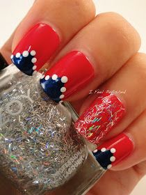 Fourth of July Nail Art Love Nails, Pretty Nails, Patriotic Nails, Nail Pictures, 4th Of July Nails, Dotting Tool, Fabulous Nails, Manicure And Pedicure, How To Feel Beautiful