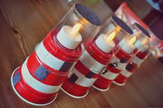 There are many ways how you can construct a decorative lighthouse. Bible School Crafts, Sunday School Crafts, Bible Crafts, Summer Crafts, Diy Crafts For Kids, Island Crafts, Bible Object Lessons, Church Crafts, Light Crafts