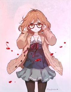 Mirai Kuriyama // beyond the boundary / kyoukai no kanata Manga Girl, Manga Anime, Anime Art, Gaara, Naruto E Boruto, Narusaku, Beyond The Boundary, Kawaii Anime, Kawaii Girl
