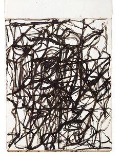 Brice Marden  Sketchbook,1983-84  25 sheets, Handbound between boards  Ink on paper