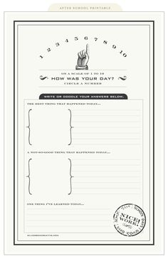 how was your day - journaling template