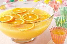 Nothing gets the party started like a great bowl of punch. This one combines CRYSTAL LIGHT Lemonade Flavor Drink Mix and frozen OJ for a nice citrusy kick.