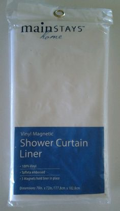 Vinyl Magnetic Shower Curtain Liner- Mainstays home #Mainstayshome