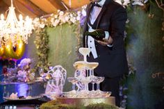 Champagne Tower - Nadine and Lorenzo's Enchanted Parisian Wedding