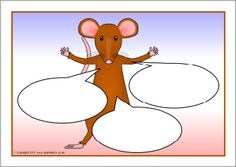 Mouse-themed editable target board posters (SB4728) - SparkleBox