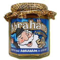 Leeftijd feestartikelen, Abraham mosterd 190 ml  bij Feestwinkel Fun en Feest Belgi�. Online Abraham mosterd 190 ml  bestellen. Verzending Belgi� � 9,95.