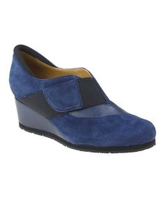 Another great find on #zulily! Navy Bondy Suede Wedge by Earthies #zulilyfinds