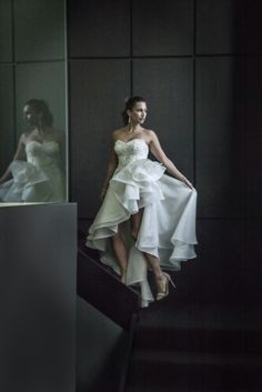 "Corston Couture's ""Diva"" Gown (minus the long detachable underskirt) www.corston.com.au #corstoncouturegown #corstoncouture #corston #couture #juliajohnstonphotos #hilowskirt #engagementdress #engagementpartydress #sydneybridaldesigner #bridaldesigner #bridalcouture"