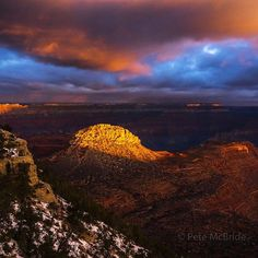 Photo by @pedromcbride (Pete McBride) // On the trailor lack there ofinside the Grand Canyon. Walking the length of this outdoor cathedral with #KevinFedarko on assignment for @natgeo. We hope to highlight the jewels at risk in this wilderness if development pressures above and around the rim and border of this national park continue unabated. 280 miles walked over 320 to go.  #chasingrivers #grandcanyon #love #orange #photooftheday #sunrise by natgeo