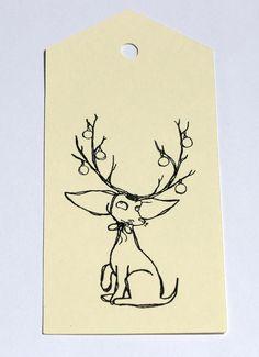 10 Christmas Hang Tags Gift Tag Set