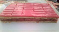 puncsos-szelet My Recipes, Cake Recipes, Dessert Recipes, Cooking Recipes, Rhubarb Recipes, Hungarian Desserts, Hungarian Recipes, Cake Bars, Deserts